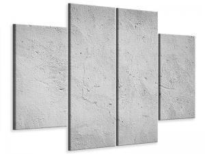 Ljudabsorberande 4 delad tavla - Concrete - SilentSwede
