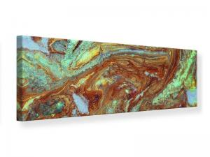 Ljudabsorberande panorama tavla - Marble In Green - SilentSwede