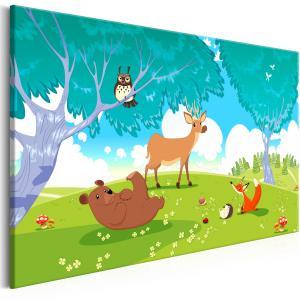 Ljuddämpande & ljudabsorberande tavla - Friendly Animals - SilentSwede