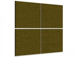 Ljudabsorbent vägg - SilentSwede® Wall - 4-parts Four - SilentSwede
