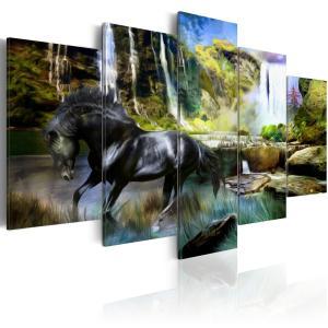 Ljuddämpande tavla - Black horse - SilentSwede