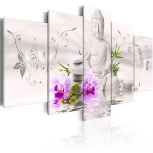 Ljuddämpande tavla - White Buddha - SilentSwede