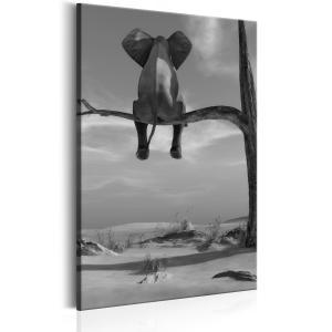 Ljuddämpande tavla - Resting Elephant - SilentSwede