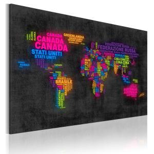 Ljuddämpande & ljudabsorberande tavla - Kartan över världen - SilentSwede