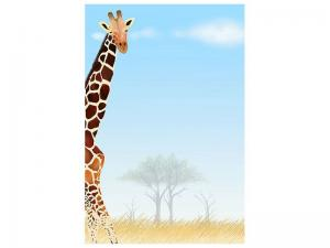 Ljudabsorberande tavla - Giraffe Friend - SilentSwede