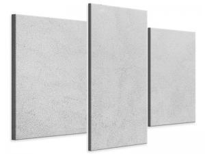 Ljudabsorberande modern 3 delad tavla - Concrete In Light Gray - SilentSwede