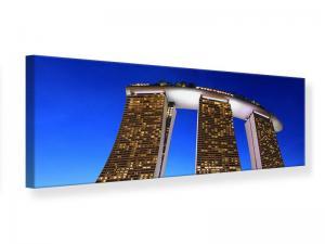 Ljudabsorberande panorama tavla - Skyscraper Singapore - SilentSwede