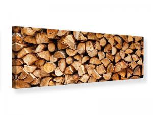 Ljudabsorberande tavla-Stacked Wood - SilentSwede