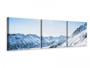 Ljuddämpande tavla - Mountain Panorama In Snow - SilentSwede