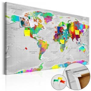 Ljuddämpande anslagstavla - Maps: Colourful Finesse - SilentSwede