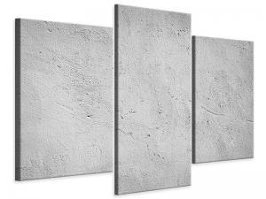 Ljudabsorberande modern 3 delad tavla - Concrete - SilentSwede