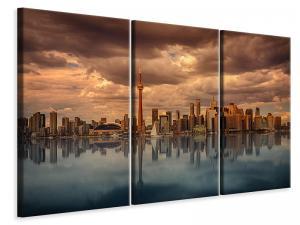 Ljuddämpande tavla - Toronto at dusk - SilentSwede
