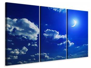 Ljudabsorberande 3 delad tavla - The Moon - SilentSwede