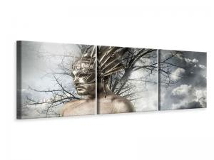 Ljudabsorberande panorama 3 delad tavla - Divinity - SilentSwede