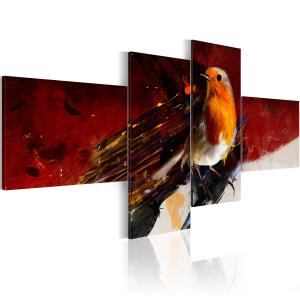 Ljuddämpande tavla - A little bird on four parts - SilentSwede