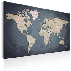 Ljuddämpande tavla - World Map: Shades of Grey - SilentSwede