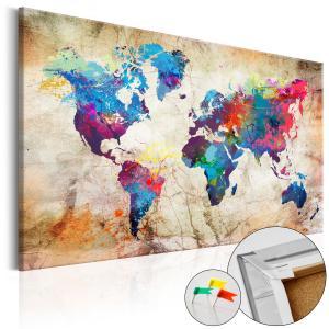Ljuddämpande anslagstavla - World Map: Urban Style - SilentSwede
