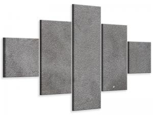 Ljudabsorberande 5 delad tavla - Concrete In Dark Grey - SilentSwede