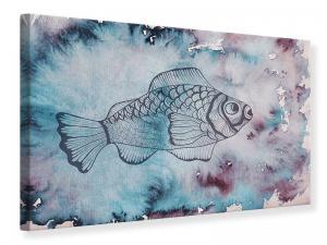Ljudabsorberande tavla - Fish Watercolor - SilentSwede