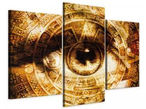 Ljudabsorberande 3 delad tavla-Fractally eye - SilentSwede