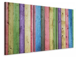 Ljuddämpande tavla - Colorful wood - SilentSwede
