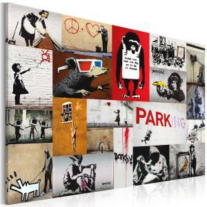 Ljuddämpande tavla - Banksy - collage - SilentSwede