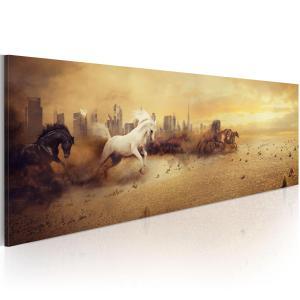 Ljuddämpande & ljudabsorberande tavla - City of stallions - SilentSwede