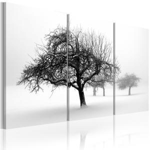 Ljuddämpande tavla - Trees submerged in white - SilentSwede