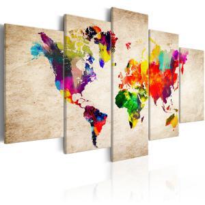 Ljuddämpande tavla - World Map: Abstract Fantasy - SilentSwede