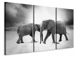 Ljuddämpande tavla - 2 elephants sw - SilentSwede