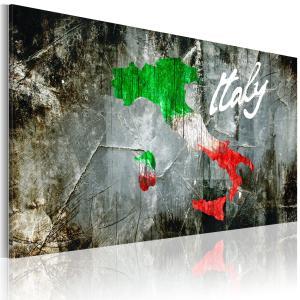 Ljuddämpande & ljudabsorberande tavla - Konstnärlig karta över Italien - SilentSwede