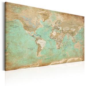 Ljuddämpande tavla - World Map: Celadon Journey - SilentSwede