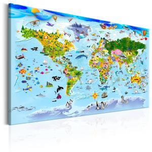 Ljuddämpande tavla - Children's Map: Colourful Travels - SilentSwede