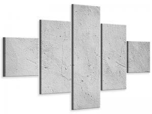 Ljudabsorberande 5 delad tavla - Concrete - SilentSwede