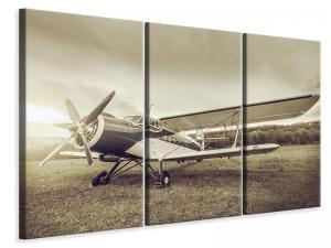 Ljuddämpande tavla - Nostalgic Aircraft In Retro Style - SilentSwede