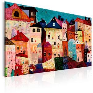 Ljuddämpande & ljudabsorberande tavla - Artistic City - SilentSwede