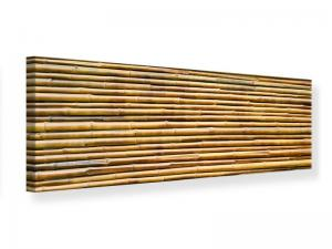 Ljudabsorberande panorama tavla - Horizontal Bamboo Wall - SilentSwede