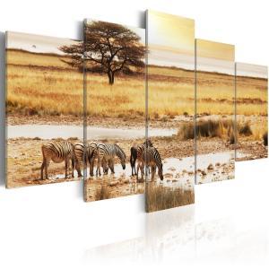 Ljuddämpande tavla - Zebras on a savannah - SilentSwede