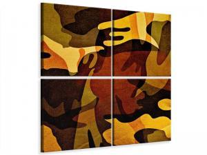Ljudabsorberande 4 delad tavla - Military - SilentSwede