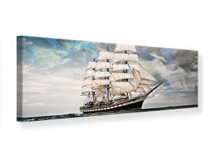 Ljudabsorberande panorama tavla - Old Sailboat - SilentSwede