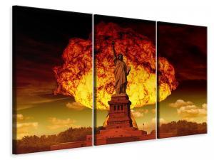 Ljuddämpande tavla - Statue of liberty in spectacular light - SilentSwede