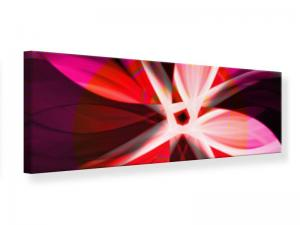 Ljudabsorberande panorama tavla - Abstract Flower Power - SilentSwede